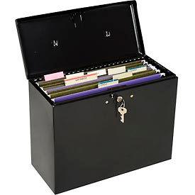 """Master Lock® Steel Security File Box, 13-1/2""""L x 6""""W x 10-1/2""""H, Black"""
