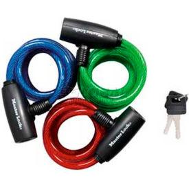 Master Lock® No. 8127TRI Cable Lock 3-Pack Keyed Alike 6'L Keyed Cable Bike lock - Pkg Qty 4