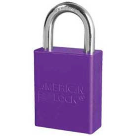 American Lock® Solid Aluminum Rectangular Padlock, Purple - No A1105prp - Pkg Qty 24