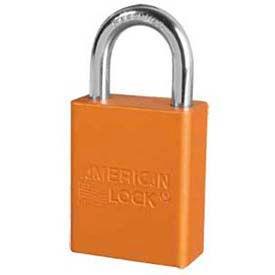 American Lock® Solid Aluminum Rectangular Padlock, Orange - No A1165orj - Pkg Qty 24