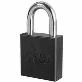 American Lock® High Security Solid Aluminum Padlock 5 Pin Cylinders, Black - Pkg Qty 24