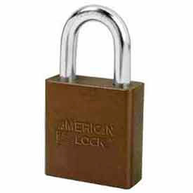 American Lock® No. A1205BRN High Security Solid Aluminum Padlock 5 Pin Cylinders - Brown - Pkg Qty 24