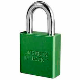American Lock® No. A1205GRN High Security Solid Aluminum Padlock 5 Pin Cylinders - Green - Pkg Qty 24