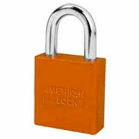 American Lock® No. A1265ORJ High Security Solid Aluminum Padlock 6 Pin Cylinders - Orange - Pkg Qty 24