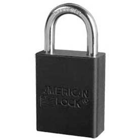 American Lock® Solid Aluminum Small Format Padlock Wo Cylinder, Black - No A3105woblk - Pkg Qty 24