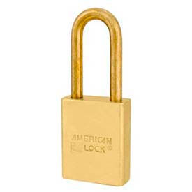 American Lock® Solid Brass Key In Knob Padlock With Brass Shackle Wo Cylinder-No A3601bwo - Pkg Qty 24