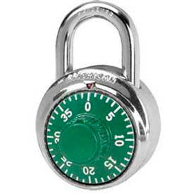 American Lock® Padlock Stainless Steel Combination Padlock, No Key Access, Green - No A400grn - Pkg Qty 25