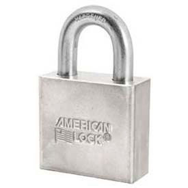 American Lock® Non-Rekeyable Solid Steel Padlock - No A50 - Pkg Qty 24
