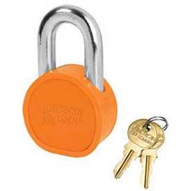 American Lock® Solid Steel Blade Cylinder Padlock w/ Chrome Shackle Orange -No Ah10opbcsh - Pkg Qty 24