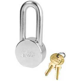 American Lock® Solid Steel Blade Cyldr Padlock W Dbl Loop Chain Wo Cyldr-No Ah11dblcwo - Pkg Qty 24