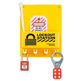 Master Lock® Compact Lockout Center, 1- Zenex™ Padlock, 1 - 421 Hasp, 2 Tags