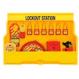 "Master Lock® Lockout Station, 8 Hanger Clips, 23-1/2""W X 4-1/2""D X 15-1/2""H, Valve"