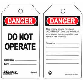 Master Lock® Safety Tag, Do Not Operate