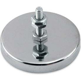 Master Magnetics Ceramic Mount-It Magnet RB50B3N with Attached Screw and Nuts 35 Lbs. Pull Chrome