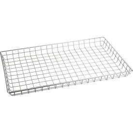 "Marlin Steel Nesting Basket 129-12 - Chrome Plated Steel - 26""L x 16""W x 2""H"