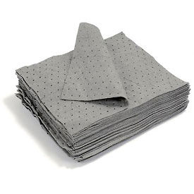 """Universal Dimpled Absorbent Pads, Medium Weight, 18"""" x 15"""", Gray, 100/Bale"""
