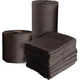 "Universal Fine Fiber Absorbent Pads, Heavy Weight, 18"" x 15"", Gray, 100/Bale"