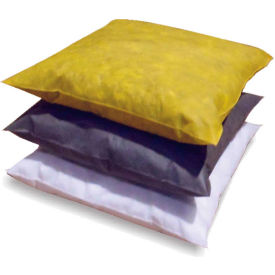 "MBT Yellow HazMat Absorbent Pillows, 18"" x 18"", 10/Case"