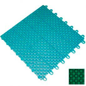 "Mateflex III Outdoor Swimming Pool Decking Tile 351312, 12""L X 12""W, Bright Green"