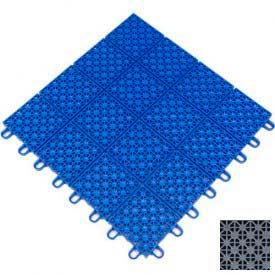 "Mateflex HomeCourt Multi-Sport Outdoor Tile 451315, 12""L X 12""W, Silver Metallic"