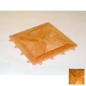 Mateflex TileFlex Indoor Modular Flooring Tile 572205, Dark Parquet