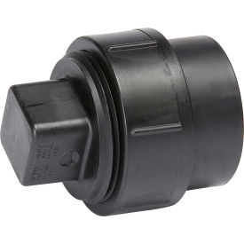 Mueller 03005 6 In. ABS Cleanout Adapter W/Cleanout Plug - Spigot X FPT