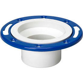 Mueller 05229 4 In. PVC Closet Flange Spigot Adjustable W/Metal Ring Epoxy Coated - Spigot