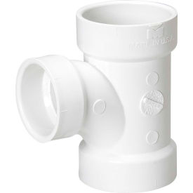 Mueller 05760 2 In. X 1-1/2 In. X 2 In. PVC Sanitary Tee Reducing - All Hub