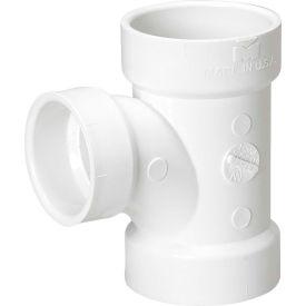 Mueller 05761 2 In. X 1-1/2 In. X 1-1/2 In. PVC Sanitary Tee Reducing - All Hub
