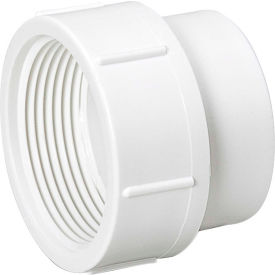 Mueller 05924 3 In. PVC Cleanout Adapter - Spigot X FPT