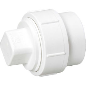 Mueller 06001 1-1/2 In. PVC Cleanout Adapter W/Cleanout Plug - Spigot X FPT