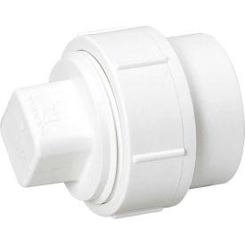 Mueller 06003 3 In. PVC Cleanout Adapter W/Cleanout Plug - Spigot X FPT