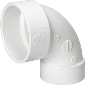 Mueller 06093 4 In. X 3 In. PVC Closet Bend Reducing Elbow   Hub