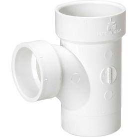 Mueller 06118 3 In. X 3 In. X 1-1/2 In. PVC Sanitary Tee Street Reducing - Spigot X Hub X Hub