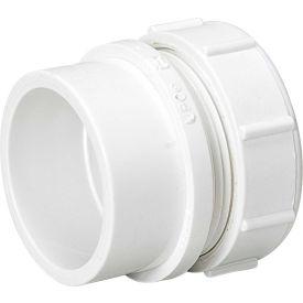 Mueller 06308 1-1/4 In. PVC Trap Adapter Male W/Plastic Nut & Washer - Spigot X Slip Joint
