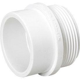 Mueller 06366 3 In. PVC Male Adapter - Spigot X Male Pipe Thread