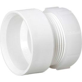 Mueller 06381 1-1/4 In. PVC Trap Adapter Female W/One-Piece Poly Nut - Hub X Slip Joint