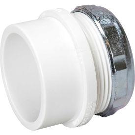 Mueller 06392 1-1/2 In. PVC Trap Adapter Male W/Chrome Nut & Washer - Spigot X Slip Joint