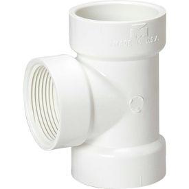 Mueller 06416 4 In. PVC Flush Cleanout Tee - Hub X Hub X FPT
