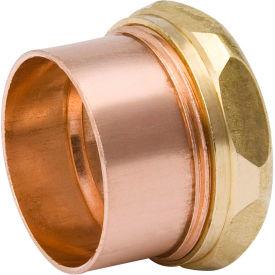 Mueller A 11356 1-1/2 In. Wrot Copper DWV Trap Adapter - Copper X Slip Joint