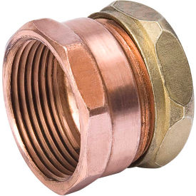 Mueller A 11411 1-1/2 In. X 1-1/4 In. Wrot Copper DWV Trap Adapter - FPT X Slip Joint
