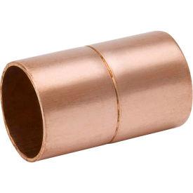 Mueller W 01022 1/2 In. Wrot Copper Rolled Stop Coupling - Copper