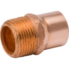 Mueller W 01136 1/2 In. Wrot Copper Male Adapter - Copper X Male Adapter