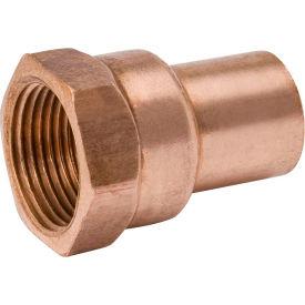 Mueller W 01532 1/2 In. X 3/8 In. Wrot Copper Fitting Adapter - Street X FPT