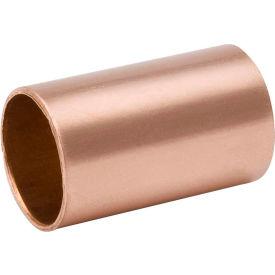 Mueller W 01901 1/4 In. Wrot Copper No Stop Coupling - Copper