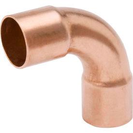 Mueller W 02723 1/2 In. X 3/8 In. Wrot Copper 90 Degree Long Radius Elbow - Copper