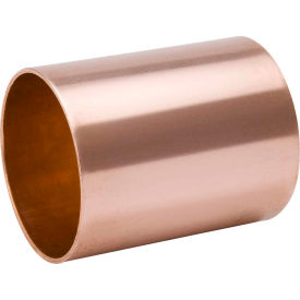 Mueller W 10157 5/8 In. Wrot Copper Staked Stop Coupling - Copper