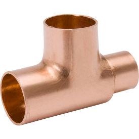 Mueller W 40155 3 In. X 2-1/2 In. X 1-1/4 In. Wrot Copper Reducing Tee - Copper