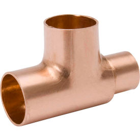 Mueller W 40231 3/4 In. X 3/8 In. X 1/2 In. Wrot Copper Reducing Tee - Copper
