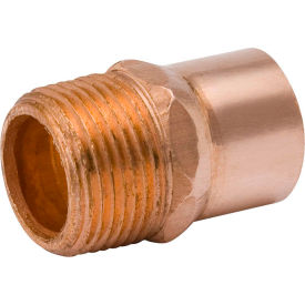 Mueller WB01131 1/2 In. Wrot Copper Male Adapter - Copper X Male Adapter